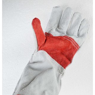 F-O-M Welding Gloves Made From Thick Cotton Standard Quality / Heat Resistant Gloves