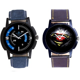 Super Men Stylish And Awesome Blue Sport Dial Analogue Men's Combo Wrist Watch By Vivah Mall