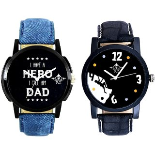 Goal Achived Motivated And My Ded My Hero Men's Combo Wrist Watch By Vivah Mall