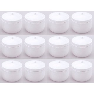 Comet Metal  Multipurpose Storage Container Set of 12 Pcs/pc 450 ml With White Finishing