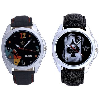 Life Race Akka And Goal Achived Art Men's Combo Wrist Watch By Vivah Mall