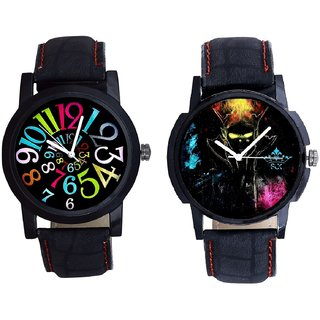 Elegant 3D Designer And Spanish Special Colour Digit Quartz Analogue Combo Watch By Vivah Mall