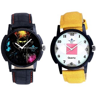 Elegant 3D Designer And Luxury Square Design Analogue Men's Combo Watch By Vivah Mall