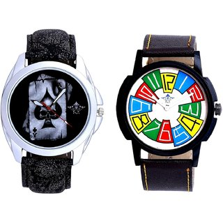 Life Race Akka And Exclusive Multi Colour Men's Combo Wrist Watch By Vivah Mall