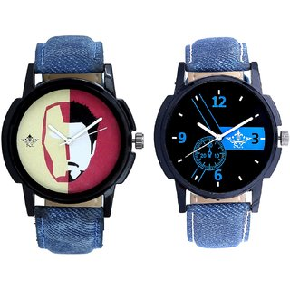 Attractive Blue Dial And Rocky Men's Analogue Men's Combo Wrist Watch By Fashion Gallery Mall