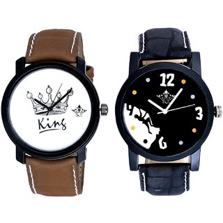Goal Achived Motivated And King Dial Men's Combo Analog Wrist Watch By Vivah Mall