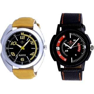 Fancy Yellow Sports Strap And Attractive Sport Design Quartz  Combo Analogue Wrist Watch By Fashion Gallery Mall