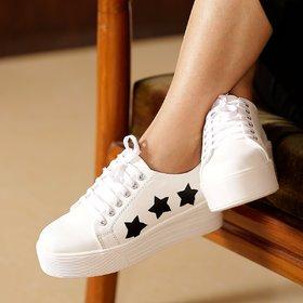 Trendy Look  Black  White Sneakers