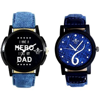Sports Sixth Art Design And My Ded My Hero Men's Combo Wrist Watch By Fashion Gallery Mall