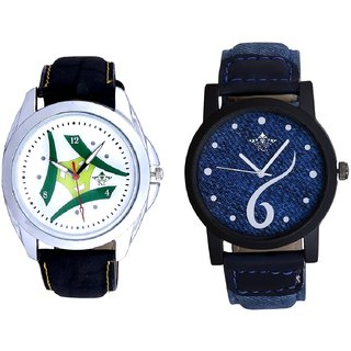 Sports Sixth Art Design And Luxury Green Tri Fan Men's Analog Combo Casual Wrist Watch By Fashion Gallery Mall