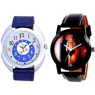 Wine Glass Luxury Style And Almight Blue Round Dial Casual Analog Combo Men's Watch By Fashion Gallery Mall