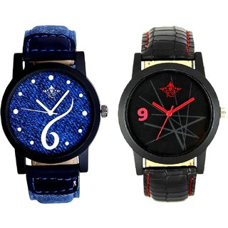 Sports Sixth Art Design And Star Design Casual Analog Combo Men's Watch By Fashion Gallery Mall