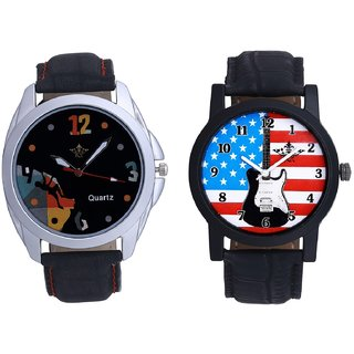Exclusive USA Design And Goal Achived Art Men's Combo Wrist Watch By Fashion Gallery Mall
