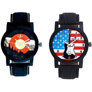 Exclusive USA Design And Winter Mount Themes Men's Combo Analog Wrist Watch By Fashion Gallery Mall