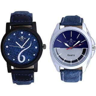 Sports Sixth Art Design And Stylish Smile Dial Analogue Men's Combo Wrist Watch By Fashion Gallery Mall