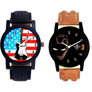 Exclusive USA Design And Iron Man Quartz  Combo Analogue Wrist Watch By Fashion Gallery Mall