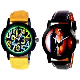 Wine Glass Luxury Style And Awesome Exclusive Digits Men's Combo Casual Watch By Fashion Gallery Mall