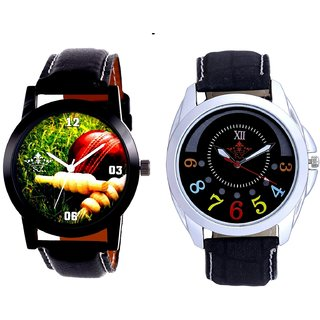 Cricket Super Design And Classical Black Round Dial Men's Combo Quartz Watch By Fashion Gallery Mall