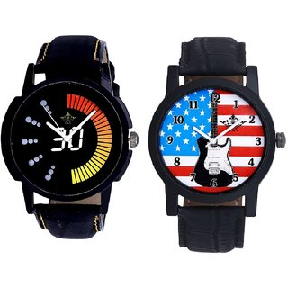 Exclusive USA Design And Attractive Race Dial Men's Combo Quartz Watch By Fashion Gallery Mall