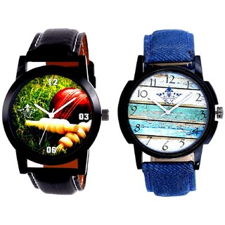 Cricket Super Design And Spanish Special Colour Quartz Analogue Combo Watch By Fashion Gallery Mall