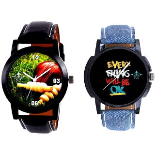 Cricket Super Design And Every Thinke Will Be Ok Analogue Men's Combo Watch By Fashion Gallery Mall
