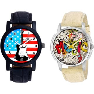 Exclusive USA Design And Rock Music Men's Combo Quartz Watch By Fashion Gallery Mall