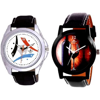 Wine Glass Luxury Style And Luxury Design 3 Fan Analogue Men's Combo Watch By Fashion Gallery Mall