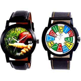 Cricket Super Design And Exclusive Multi Colour Men's Combo Wrist Watch By Fashion Gallery Mall