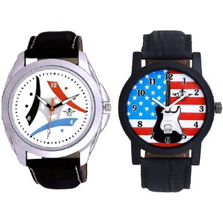 Exclusive USA Design And Luxury Design 3 Fan Analogue Men's Combo Watch By Fashion Gallery Mall