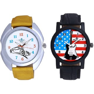 Exclusive USA Design And Rolls-Royce Car Men's Combo Wrist Watch By Fashion Gallery Mall
