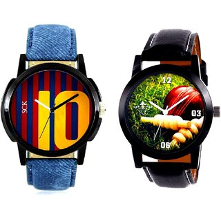 Cricket Super Design And Yelow 10 Analogue Men's Combo Watch By Fashion Gallery Mall