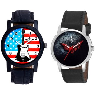 Exclusive USA Design And Black - Red Fancy Dial Analogue Men's Combo Watch By Fashion Gallery Mall