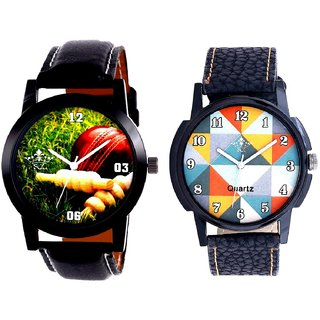 Cricket Super Design And Fancy Orange Colour Men's Combo Analog Wrist Watch By Fashion Gallery Mall