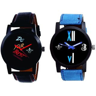 Do Your Best Multi Colour And Roman White - Blue Fancy Men's Analog Combo Casual Wrist Watch By Fashion Gallery Mall