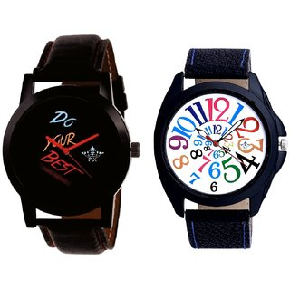 Do Your Best Multi Colour And Addition Multi Colour Digits Men's Combo Wrist Watch By Fashion Gallery Mall