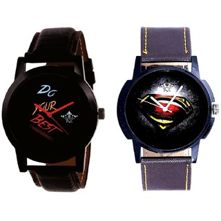 Do Your Best Multi Colour And Super Men Stylish Men's Combo Analog Wrist Watch By Fashion Gallery Mall