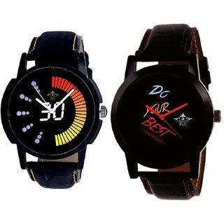 Do Your Best Multi Colour And Attractive Race Dial Men's Combo Quartz Watch By Fashion Gallery Mall