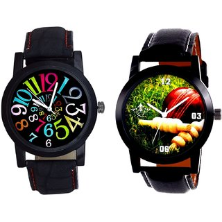 Cricket Super Design And Spanish Special Colour Digit Quartz Analogue Combo Watch By Fashion Gallery Mall