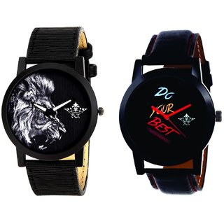 Do Your Best Multi Colour And White Lion Men's Combo Quartz Watch By Fashion Gallery Mall