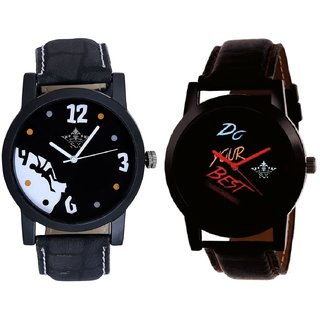 Do Your Best Multi Colour And Goal Achived Motivated Men's Analog Combo Casual Wrist Watch By Fashion Gallery Mall