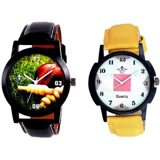 Cricket Super Design And Luxury Square Design Analogue Men's Combo Watch By Fashion Gallery Mall