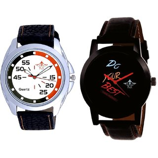 Do Your Best Multi Colour And Orange-Black Multi Dial Quartz Analogue Combo Watch By Fashion Gallery Mall