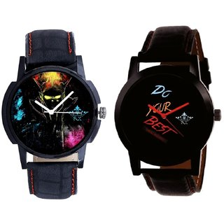 Do Your Best Multi Colour And Elegant 3D Designer Quartz  Combo Analogue Wrist Watch By Fashion Gallery Mall
