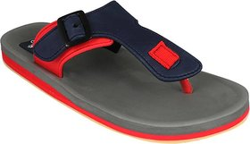 ADDA COMFORTABLE GREY/ RED  COLOR FLIPFLOPS