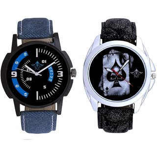 Life Race Akka And Awesome Blue Sport Dial Analogue Men's Combo Wrist Watch By Fashion Gallery Mall