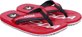 Adda Comfortable  Red  Color Flipflops For Men