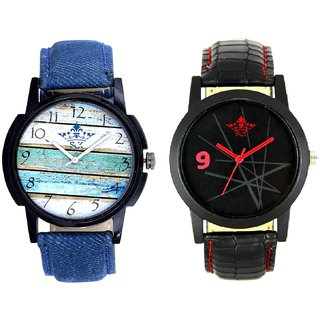 Spanish Special Colour And Star Design Casual Analog Combo Men's Watch By Fashion Gallery Mall