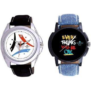 Every Thinke Will Be Ok And Luxury Design 3 Fan Analogue Men's Combo Watch By Fashion Gallery Mall