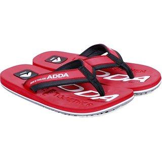 Adda Comfortable  Red  Color Flipflops For Men