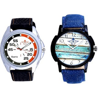 Spanish Special Colour And Orange-Black Multi Dial Quartz Analogue Combo Watch By Fashion Gallery Mall
